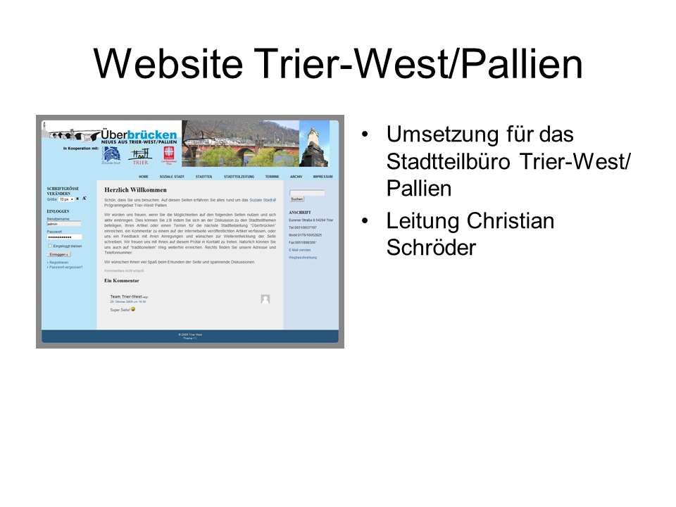 Website Trier-West/ Pallien